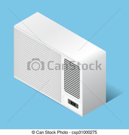 Vectors Illustration of Airconditioner.