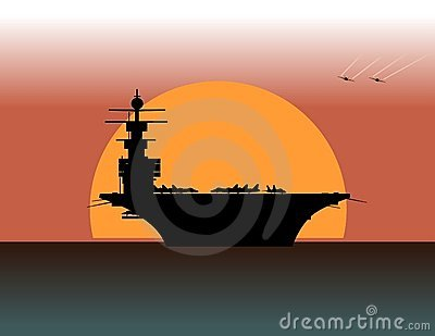 Aircraft Carrier Stock Illustrations.