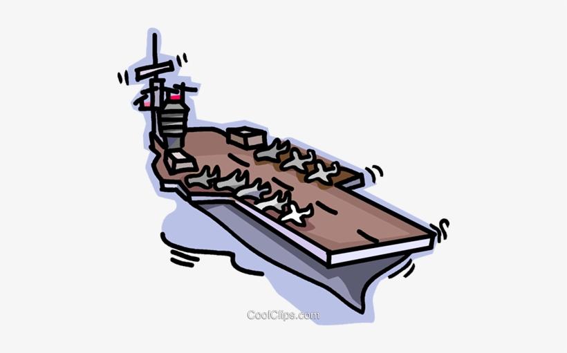 Navy Aircraft Carrier Royalty Free Vector Clip Art.