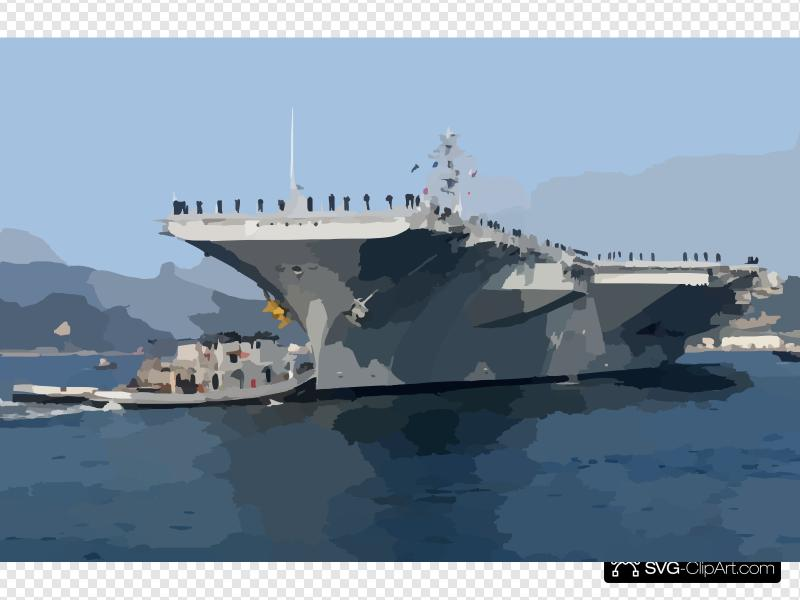 Uss Kitty Hawk Leaves For Routine Training Clip art, Icon.