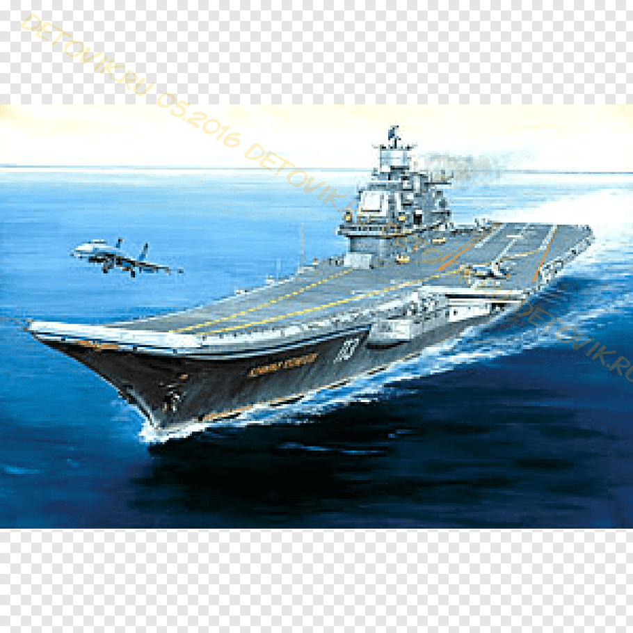 Russian aircraft carrier Admiral Kuznetsov Navy Light.