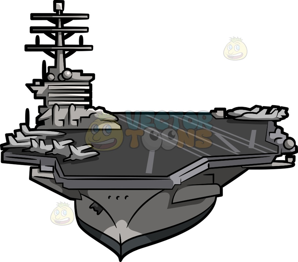 A huge aircraft carrier » Clipart Station.