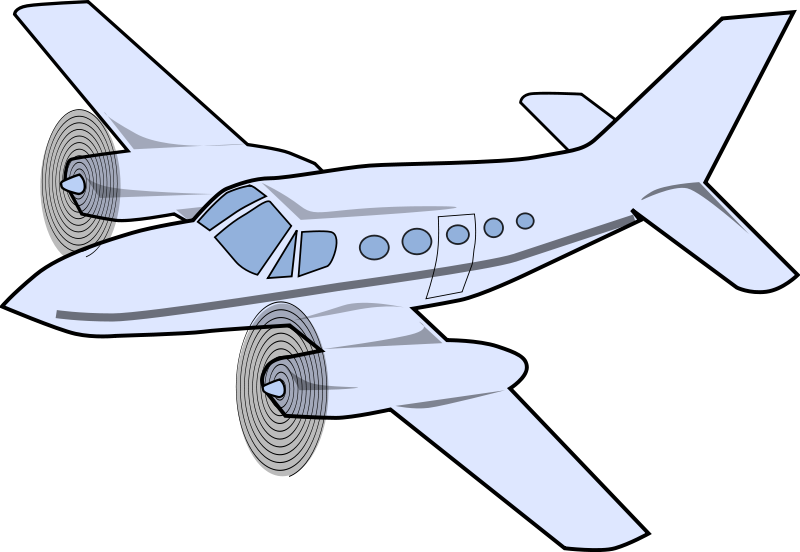 Prop airliner clipart #7