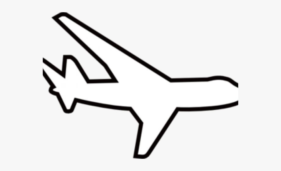 Plane Clipart Black And White.