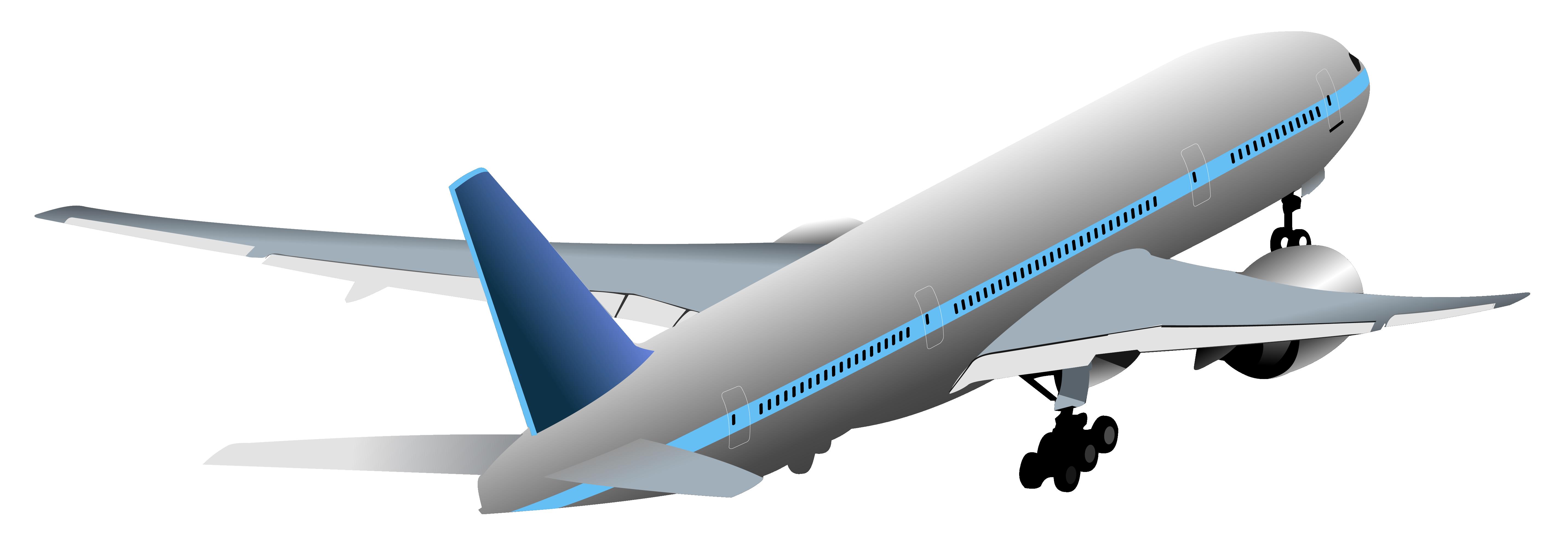 Transparent Aircraft PNG Vector Clipart.