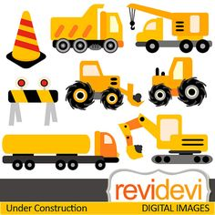 Digital clipart.. Construction Vehicle 07370.. Commercial use for.
