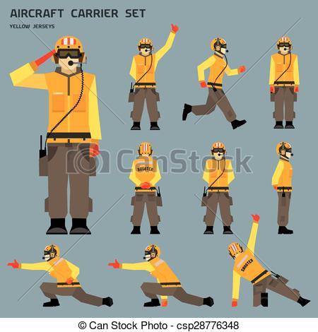 EPS Vector of Aircraft carrier shooter signals csp28776348.
