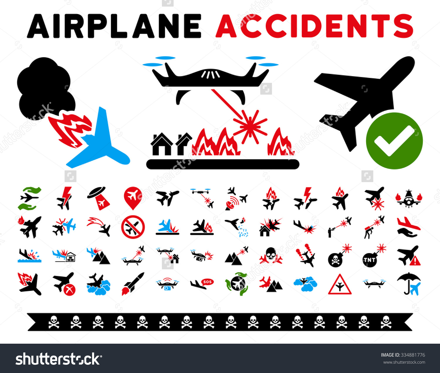 Aircraft Accidents Vector Icon Clipart Here Stock Vector 334881776.