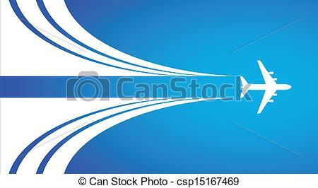 Clip Art Vector of Air flight.