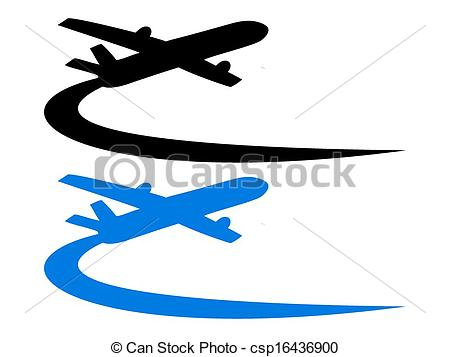 Vector Clipart of Airplane symbol design.