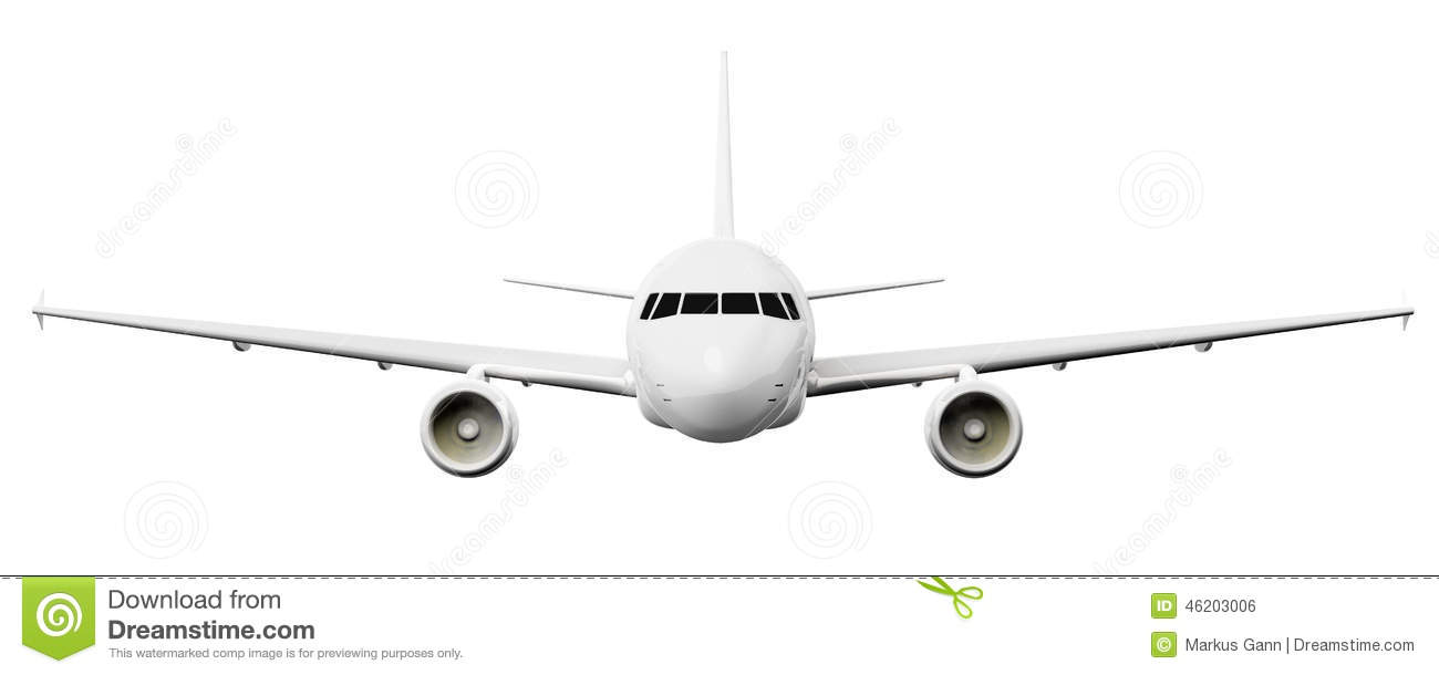 Airplane Front View Clipart.