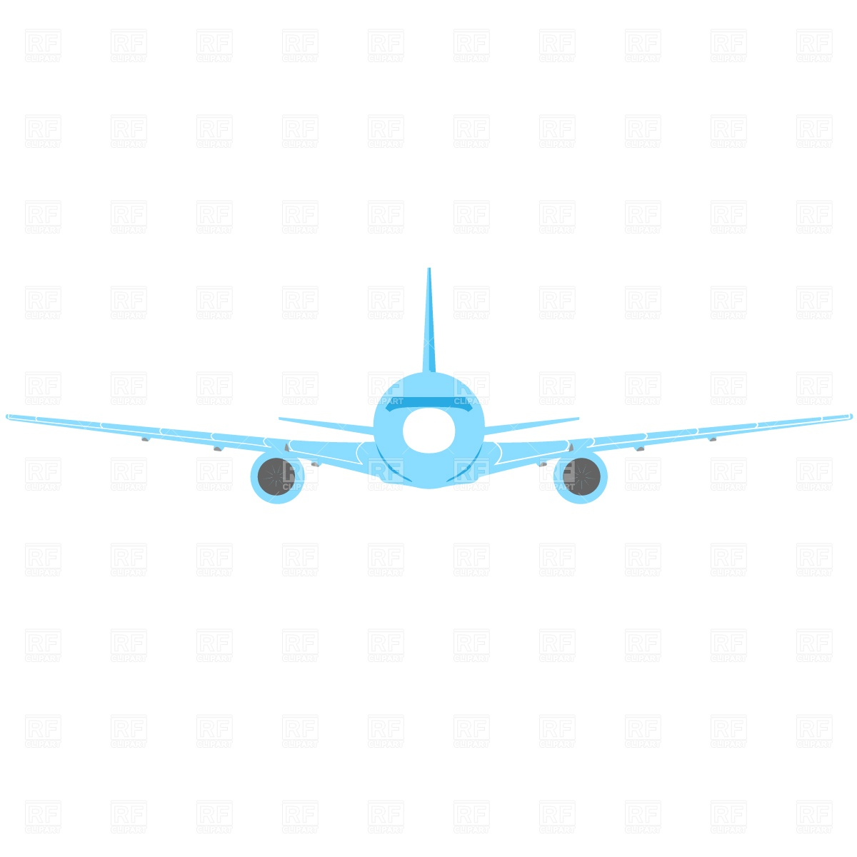 Passenger aircraft, front view Vector Image #722.