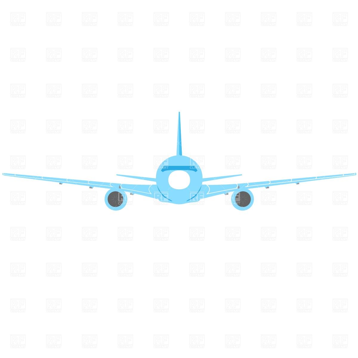 Passenger aircraft, front view Vector Image #722.