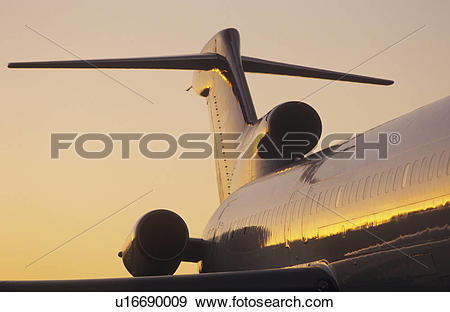 Stock Photograph of Fuselage and tailplane of Boeing 727 u16690009.