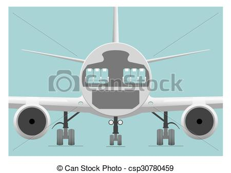 Clipart Vector of Fuselage cross section. Vector illustration. EPS.