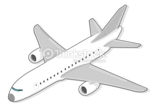 Passenger Plane Vector Art.