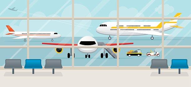 Airport clipart airport gate, Airport airport gate.