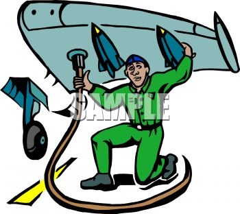 Airplane Mechanic Clipart.