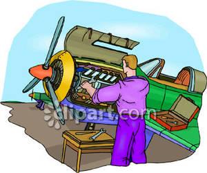 Aircraft Mechanic Clipart.