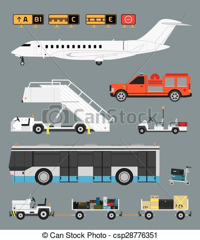 Passenger boarding stairs Vector Clipart Illustrations. 18.