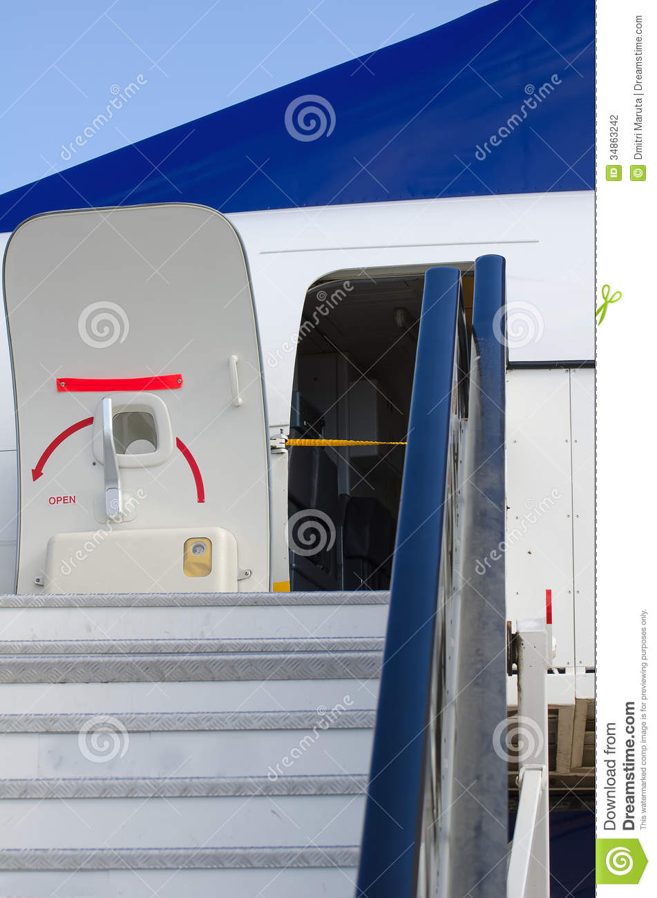 Passenger Boarding Stairs Stock Photography.