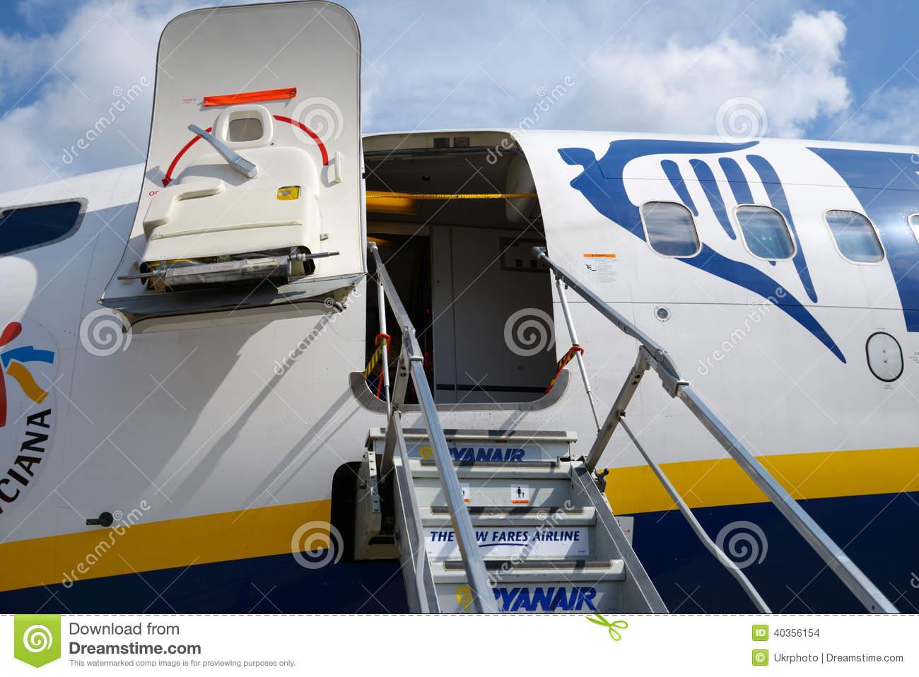 Passenger Boarding Stairs Stock Photo.