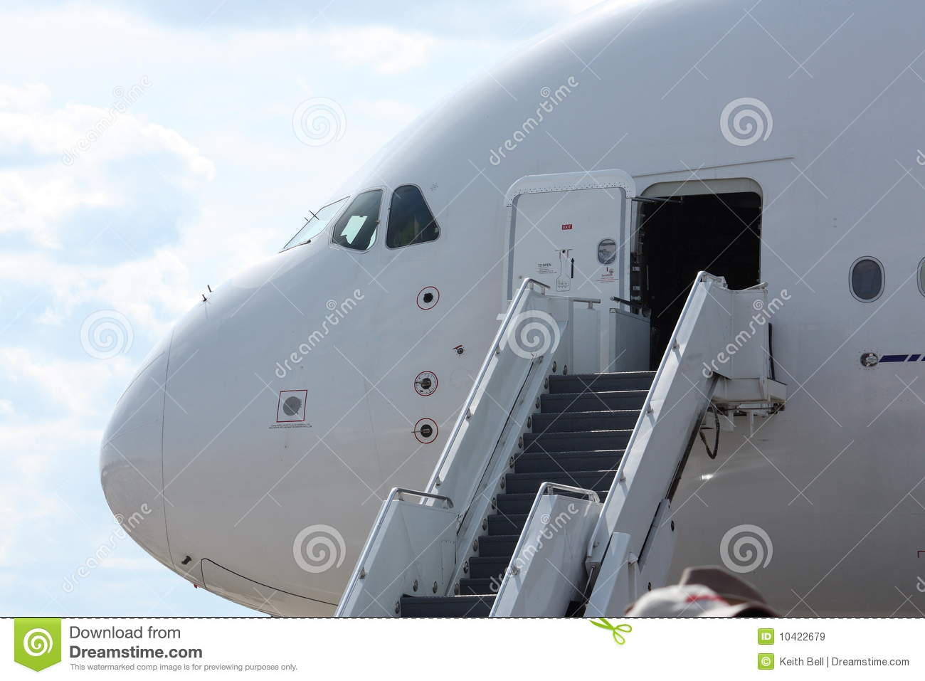 Plane stairs clipart.