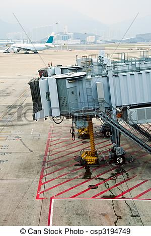 Stock Photographs of Jet bridge.
