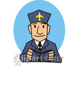 Airline pilot clipart.