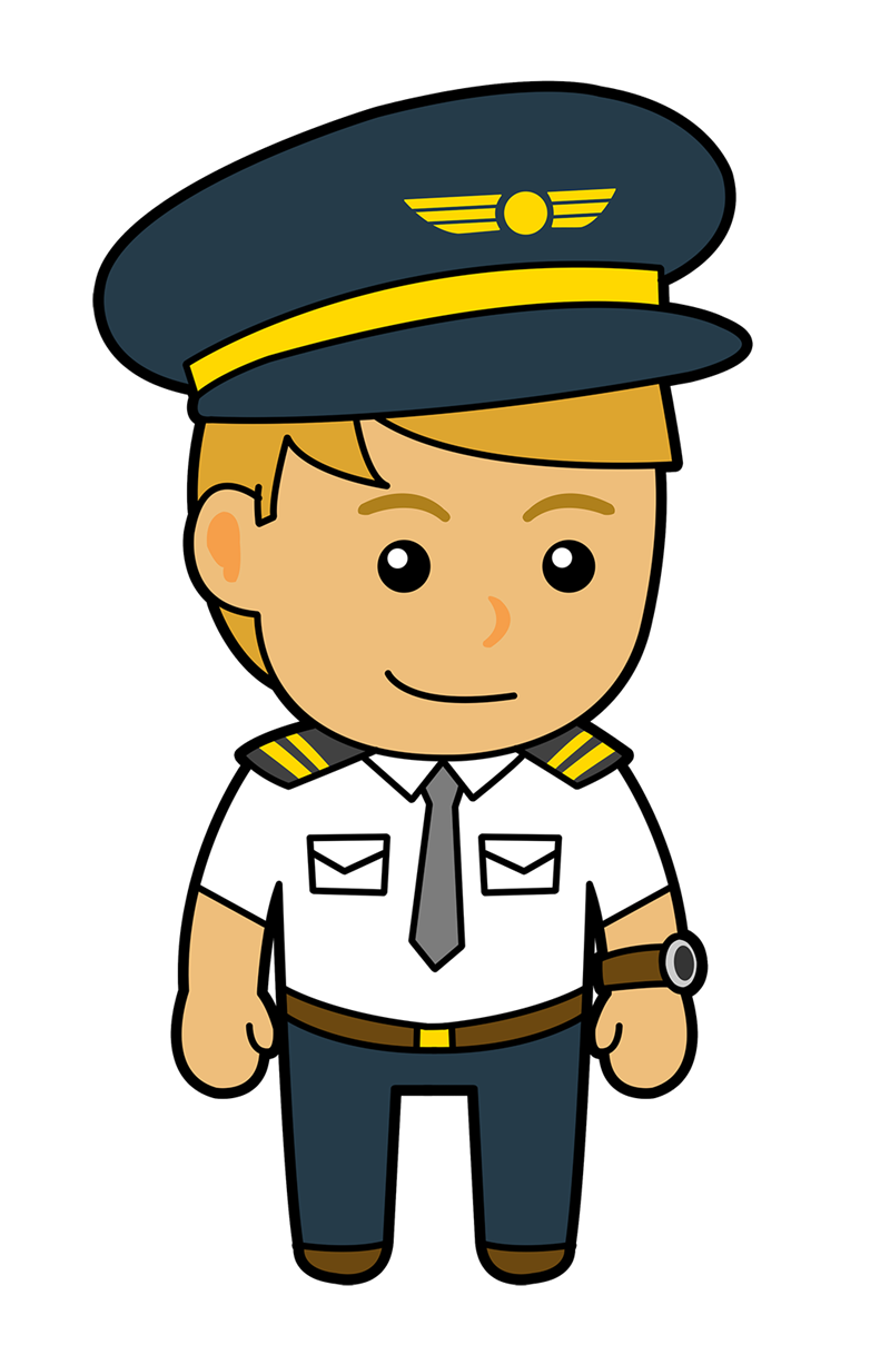 Airplane pilot clip art.