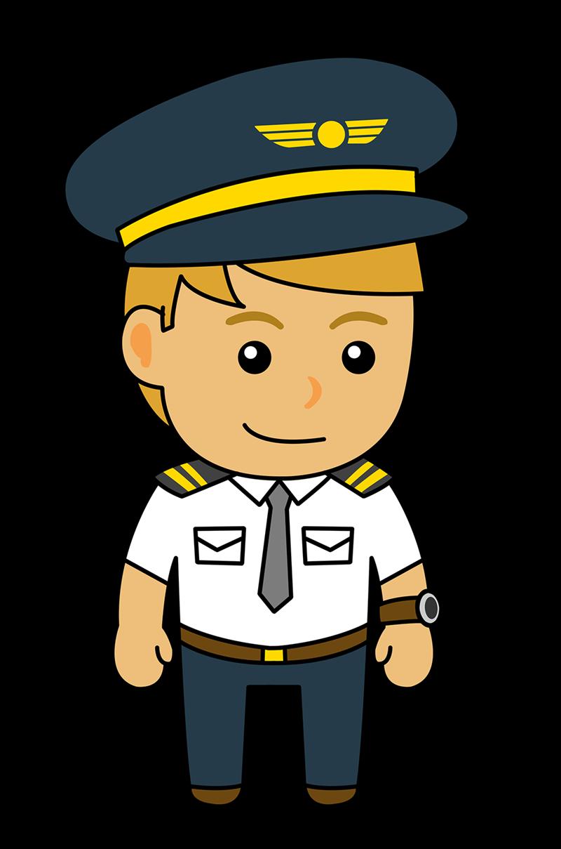 Airplane pilot clip art.