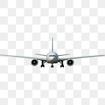 White Plane PNG Images.