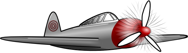 Propeller Airplane Cartoon Clipart.