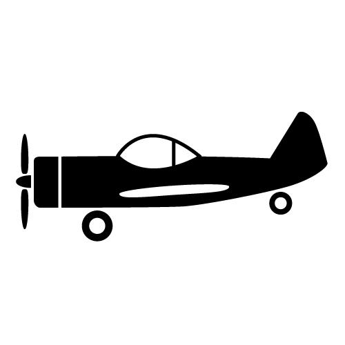 Propeller plane side clipart.