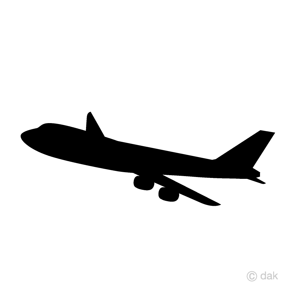 Airplane Silhouette Clipart Free Picture|Illustoon.