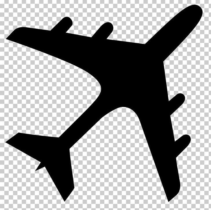 Airplane Silhouette PNG, Clipart, Aircraft, Airplane.