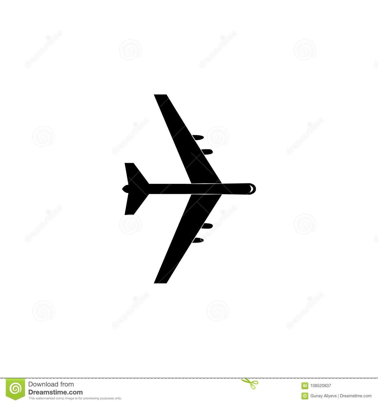 Bombardment Plane Icon. Military Aircraft Element Icon. Premium.