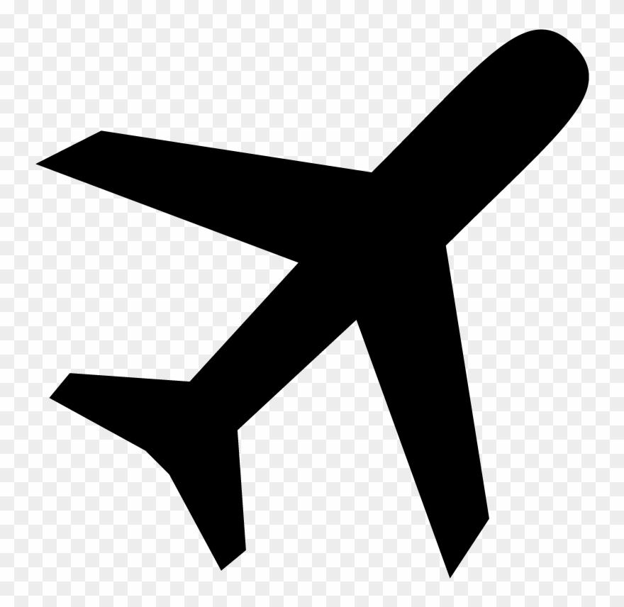 Airplane Flight Plane Icon Symbol Vector Free Vector Clipart.