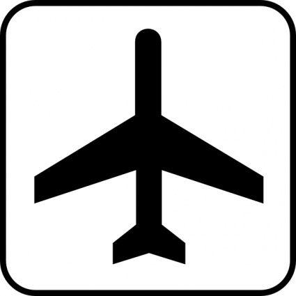 airplane black and white.