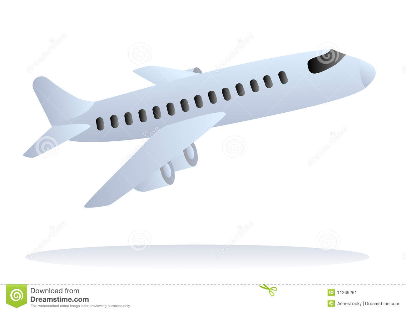 Vector Airplane Taking Off Stock Image.