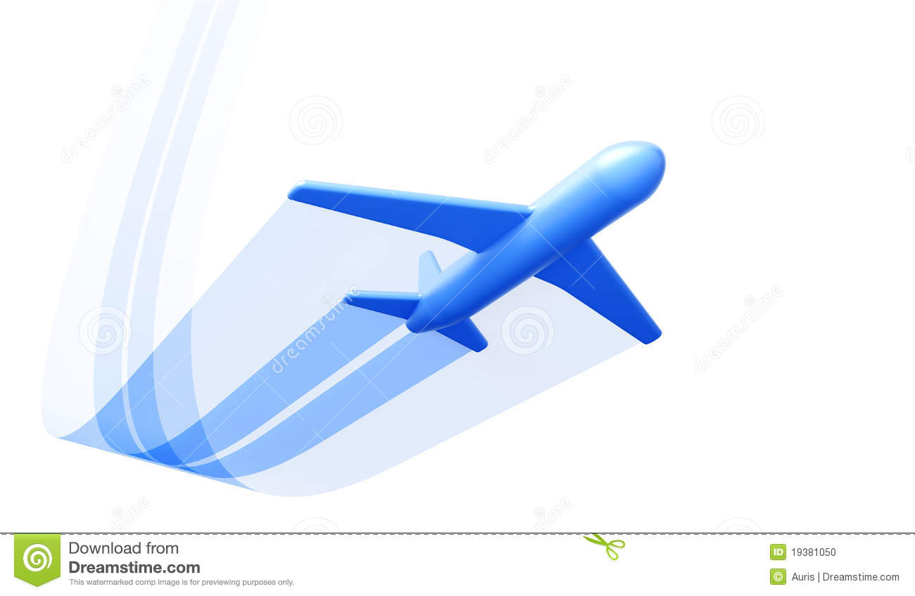 Aircraft take off clipart.