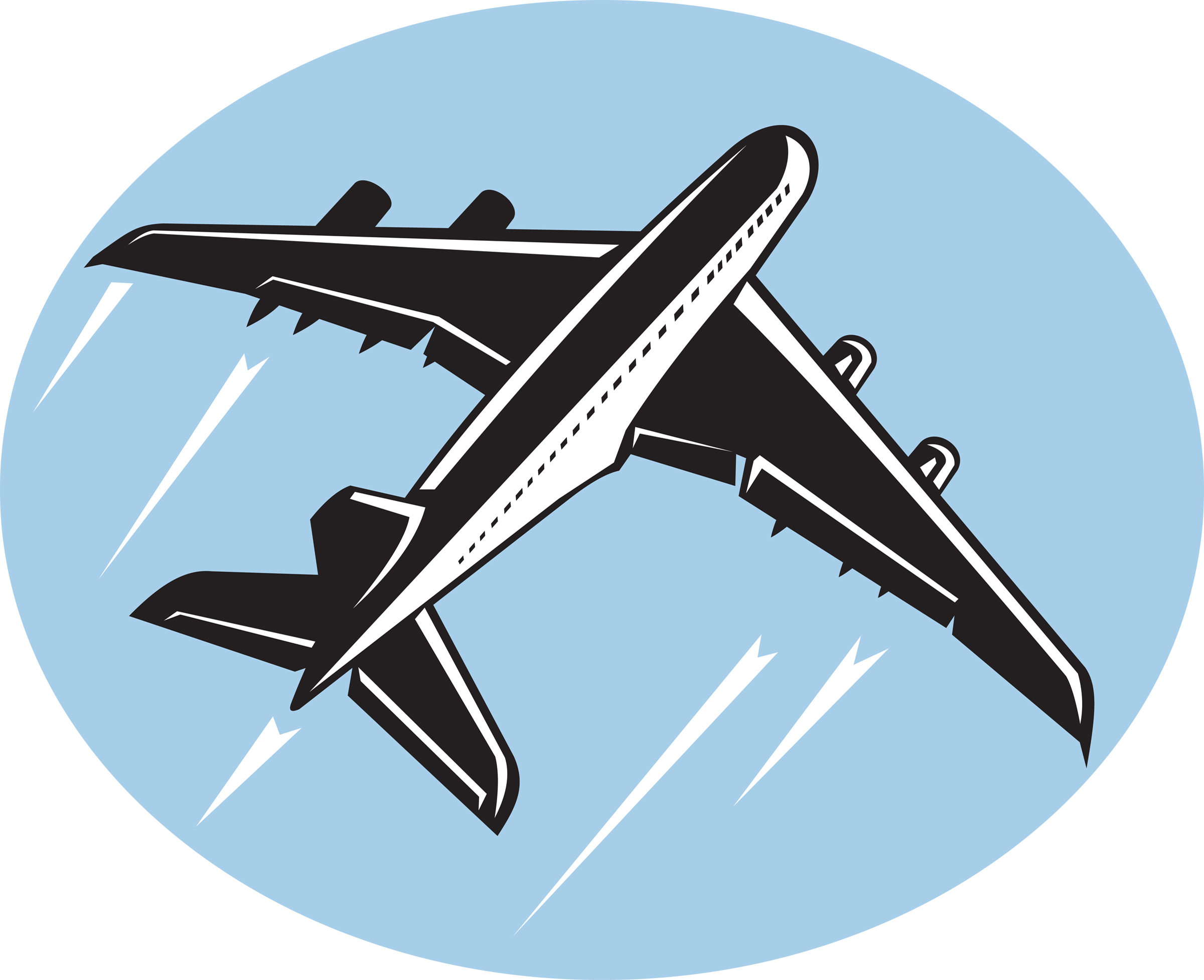 Airplane clipart takeoff.