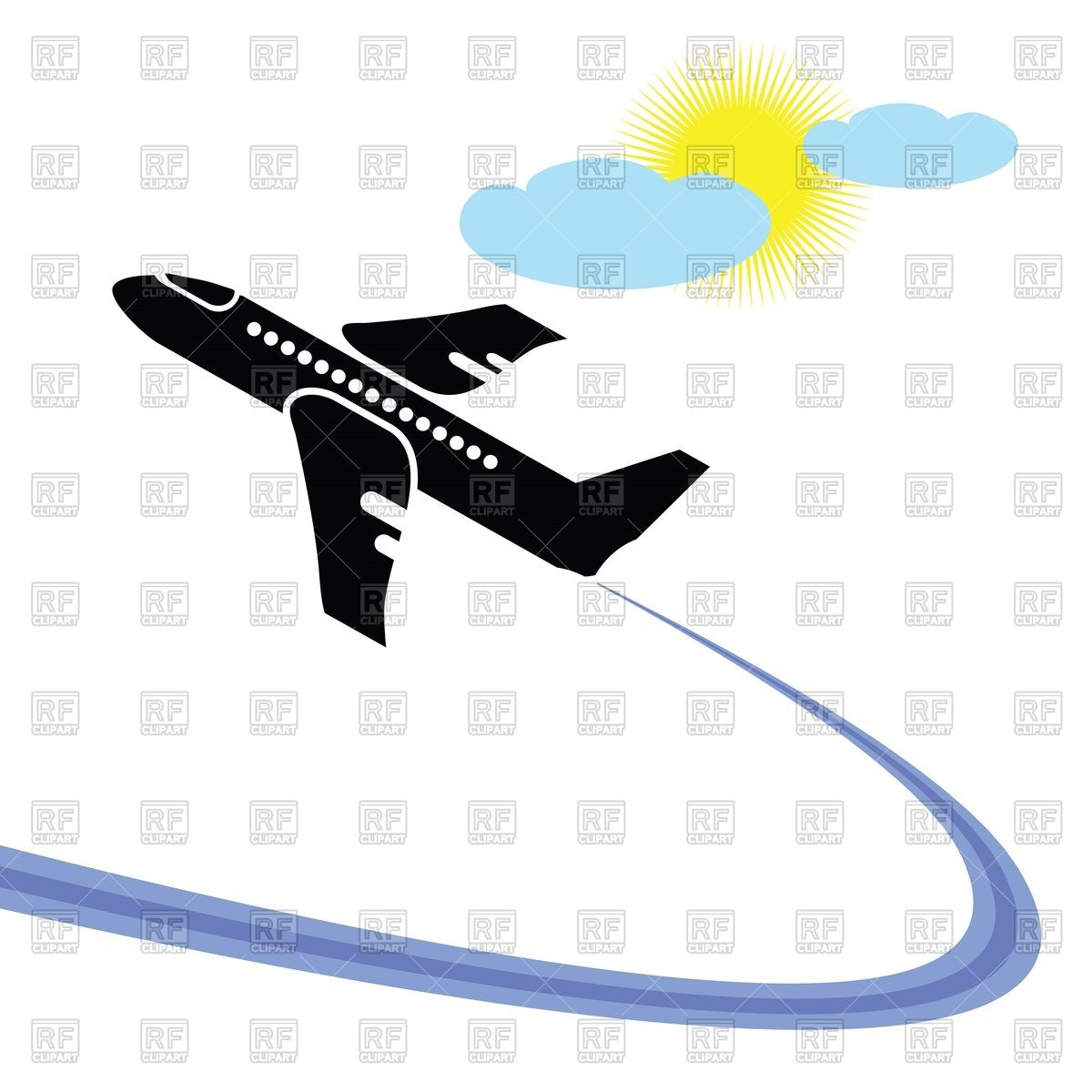Simple airplane takeoff Vector Image #44293.