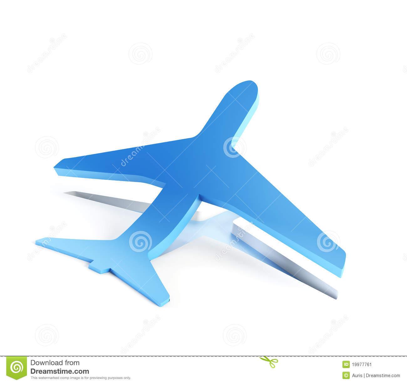 Symbolic Airplane Take Off Royalty Free Stock Photo.