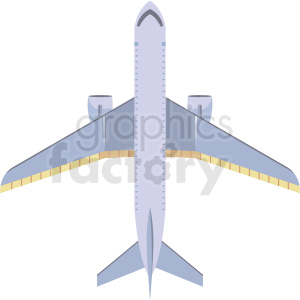 top view airplane image clipart. Royalty.