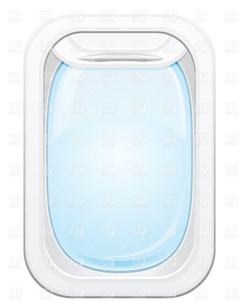 Plane with windows clipart.
