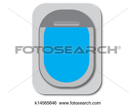 Stock Illustration of Aircraft Window k14565646.