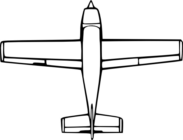 Wirelizard Top Down Airplane View clip art Free vector in Open.