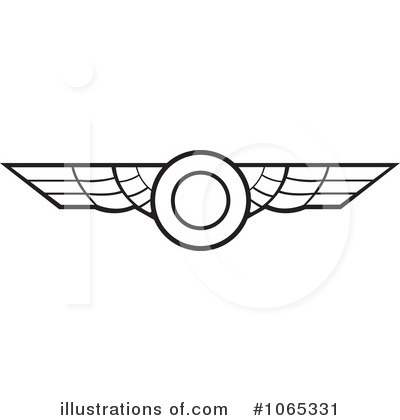 Clipart airplane wings.