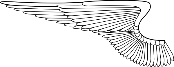 Airplane wing clipart.